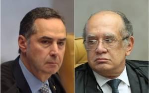 Luís Roberto Barroso e Gilmar Mendes